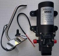 Насос диафрагменный самовсасывающий FLO-2202-1 12V с краником